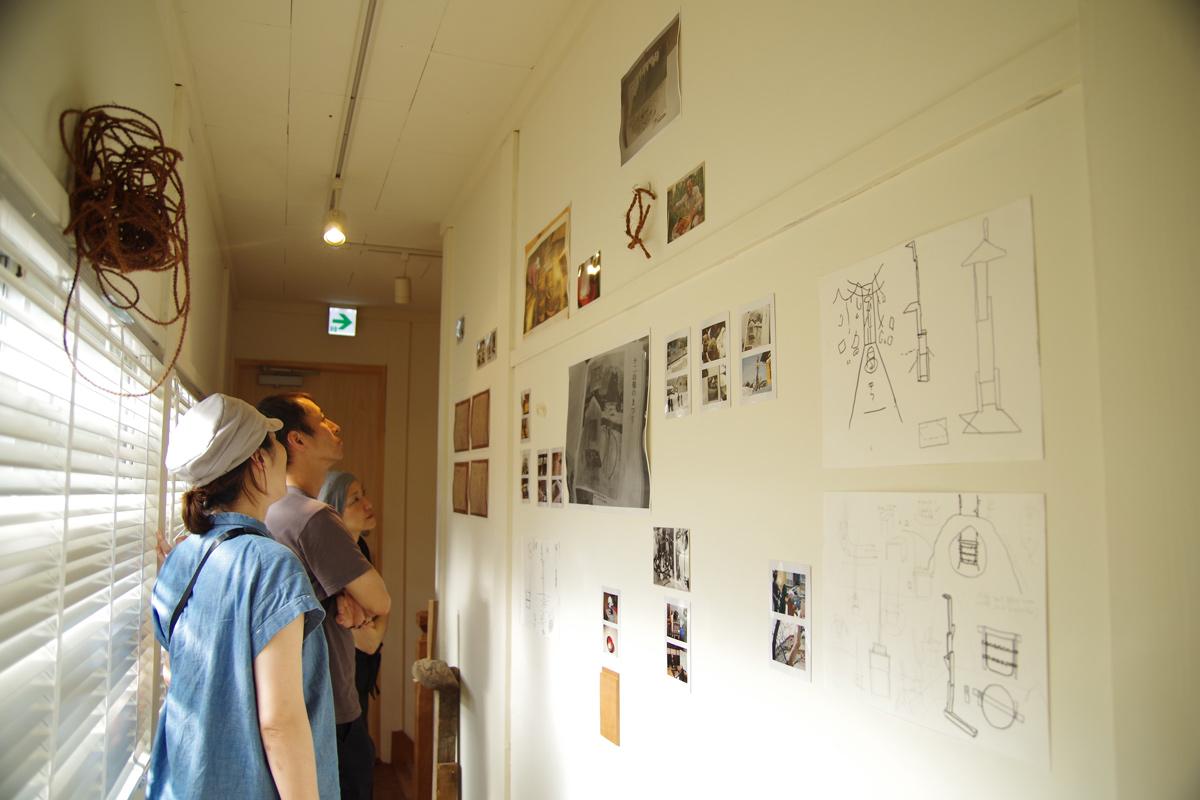 山ノ家2階にあるアート展示スペース 部屋はアーティストレジデンス的にも使われている