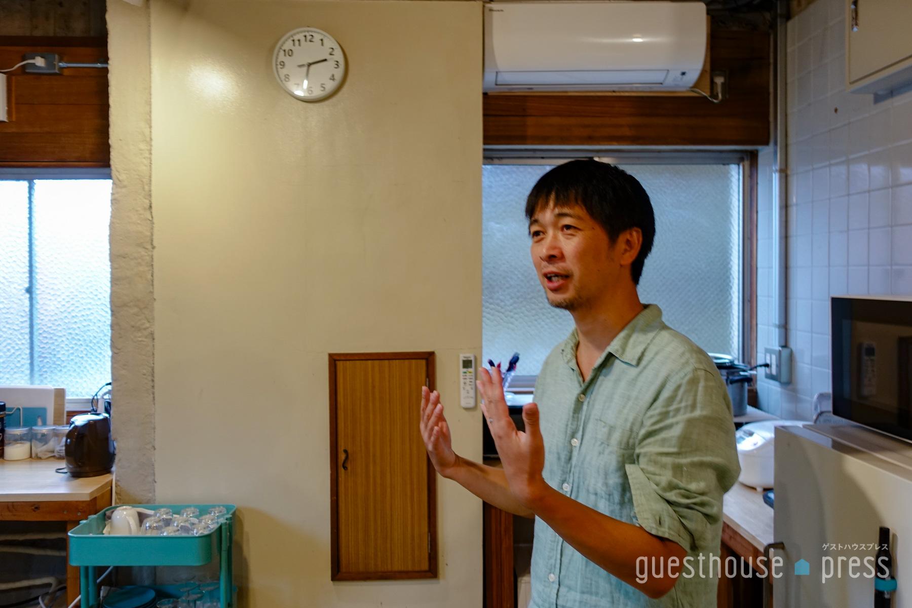 ゲストハウスオーナー横関真吾さん