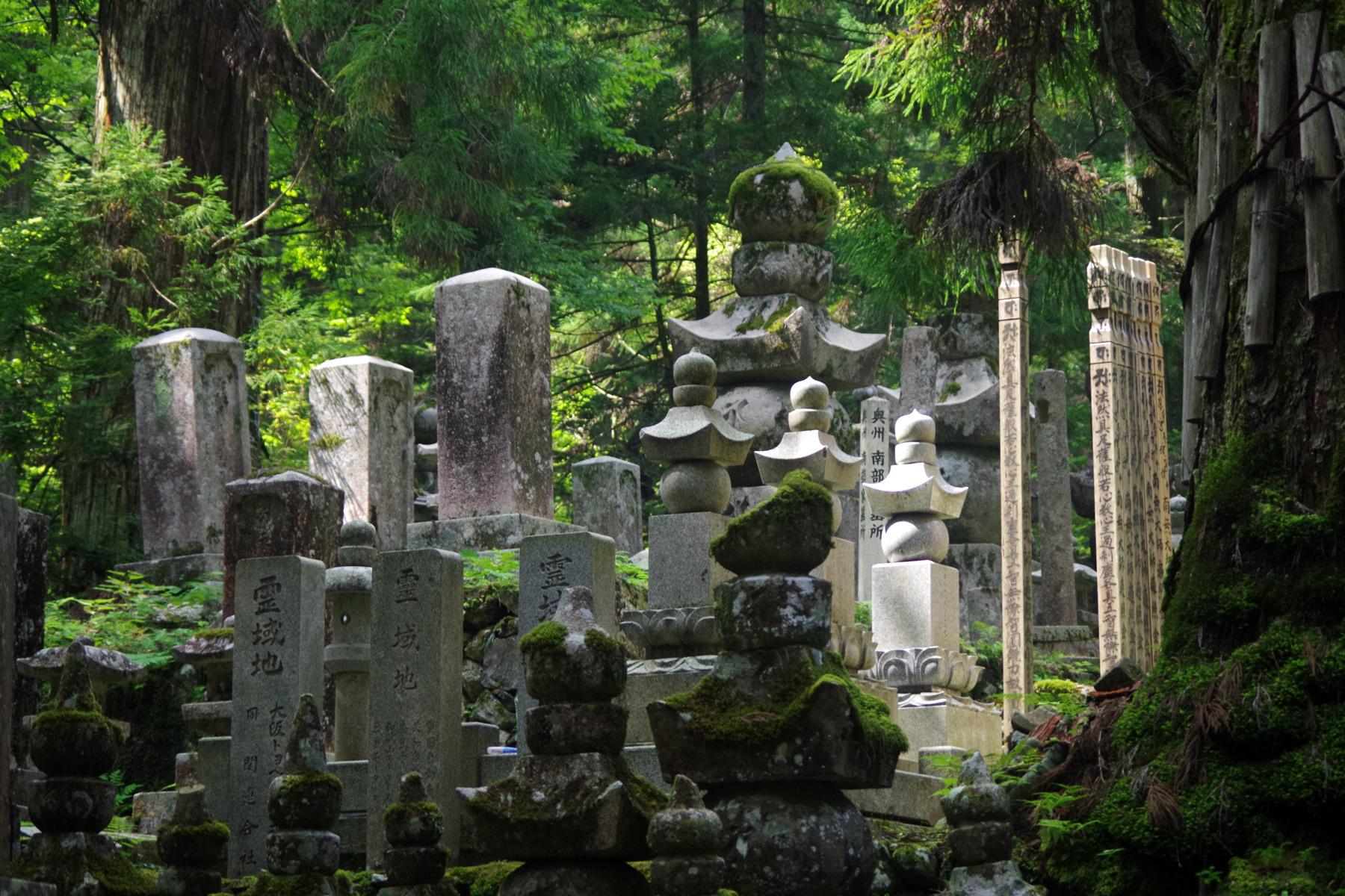 高野山奥の院参道に鎮座する過去から現代に続く無数の墓標