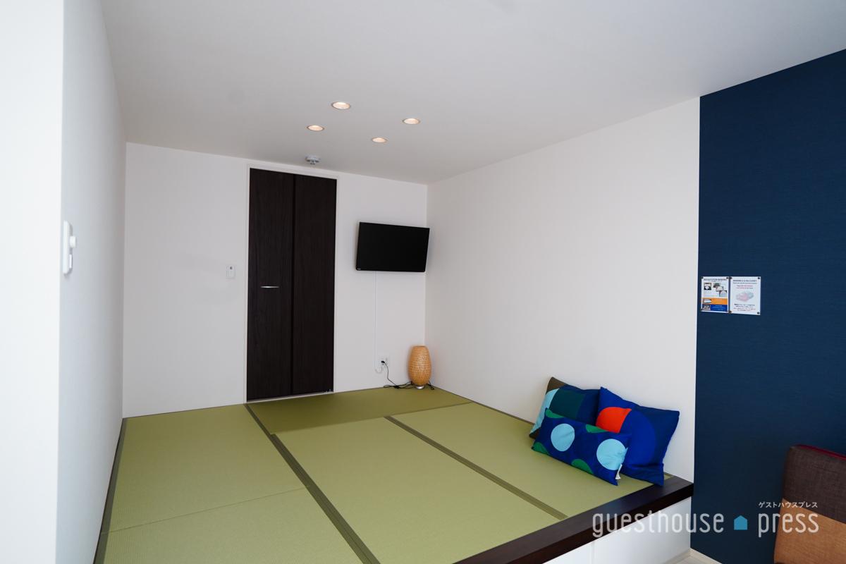 畳で寝られる個室もあり